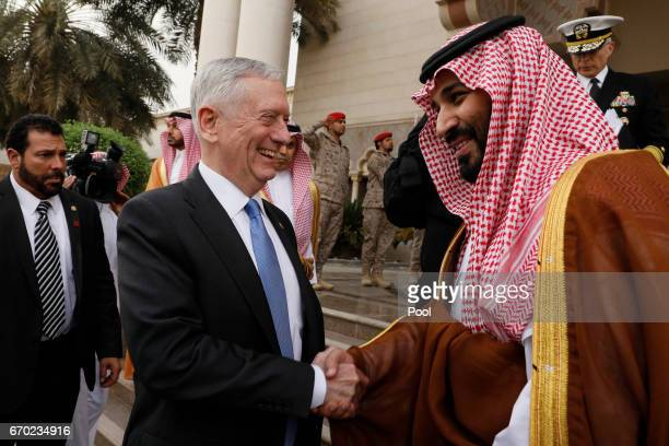 S Defense Secretary James Mattis departs after meeting with Saudi ArabiaÕs Deputy Crown Prince and Defense Minister Mohammed bin Salman at the...