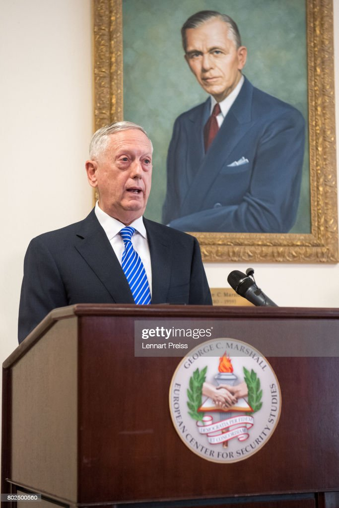 U.S. Defense Secretary Mattis Attends Marshall Plan Celebration : News Photo