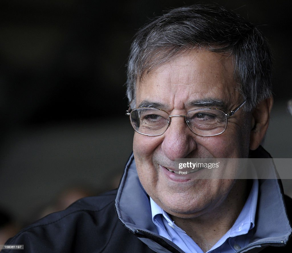 US Defense Secretary Leon Panetta smiles during a visit with troops at Incirlik Air Base on December 14, 2012 in Incirlik, Turkey. Following the US Defense Secretary's meeting with Afghan president Hamid Karzai and top Afghan officials during his three-day visit to Afghanistan, Secretary Panetta met with US troops and commanders, as the US looks towards a decision on troop numbers once the US-led coalition ends in late 2014.