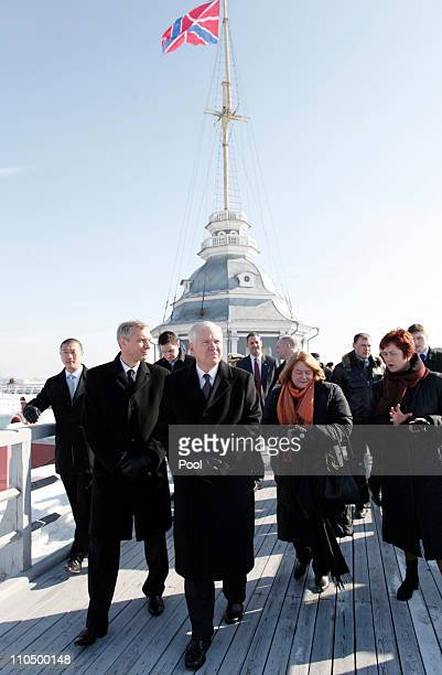 S Defense Secretary Robert Gates and his wife Becky visit Peter and Paul Fortress on March 21 2011 in St Petersburg Russia Gates spoke of the...
