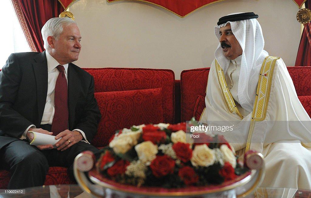 Robert Gates Makes Suprise Visit To Bahrain