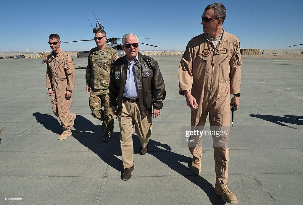 Secretary Robert Gates Tours Afghanistan