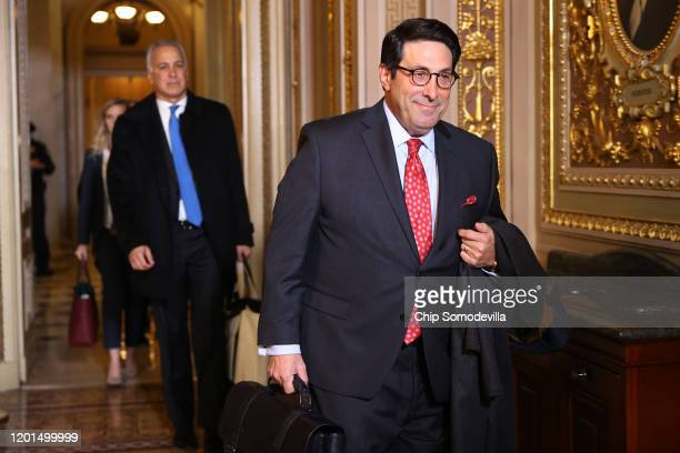 Defense team member and President Donald Trump's personal lawyer Jay Sekulow arrives at the US Capitol for the third day of Trump's impeachment trial...