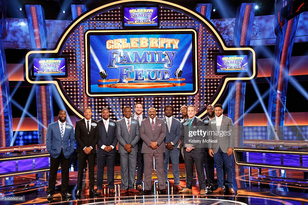 FEUD - 'AFC Defense vs NFC Offense and AFC Offense vs NFC Defense' - 'Celebrity Family Feud' will feature football players from the AFC and NFC's Offense and Defense teams, on SUNDAY, JULY 3 (8:00-9:00 p.m. EDT), on the ABC Television Network. 'Celebrity Family Feud' is hosted by Steve Harvey, the highly popular multi-hyphenate standup comedian, actor, author, deejay and Emmy Award-winning talk-show and game-show host. PIERRE