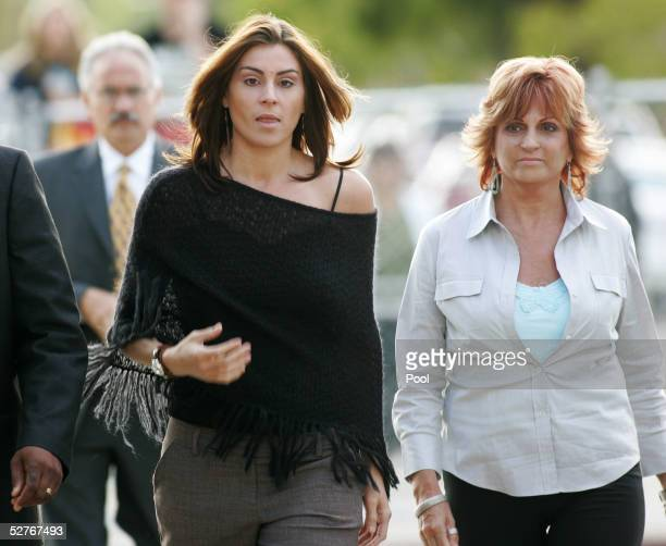 Defense witnesses Chantal Robson and her mother Joy Robson arrive at the Santa Barbara County Courthouse for the Michael Jackson child molestation...