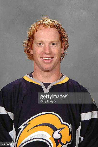 Defenseman Brian Campbell of the NHL Buffalo Sabres poses for a portrait at HSBC Arena on September 14 2006 in Buffalo New York