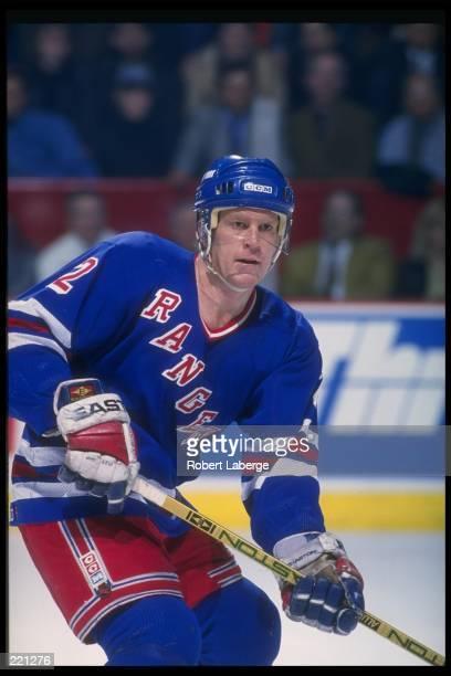 Defenseman Brian Leetch of the New York Rangers Mandatory Credit Robert Laberge /Allsport