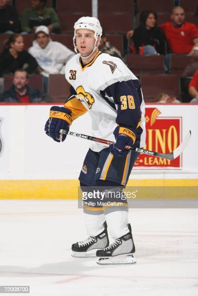 Defenseman Nathan Paetsch of the Buffalo Sabres skates in a preseason game against the Ottawa Senators on September 22 2006 at the Scotiabank Place...
