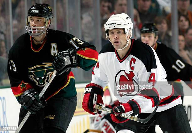 Defenseman Scott Stevens of the New Jersey Devils during play against the  Dallas Stars at the c909785eb