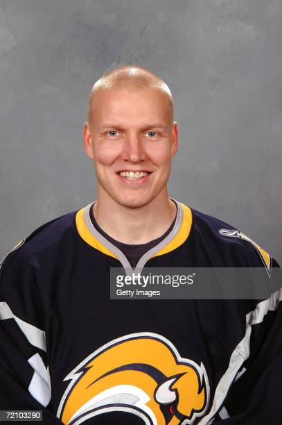 Defenseman Toni Lydman of the NHL Buffalo Sabres poses for a portrait at HSBC Arena on September 14 2006 in Buffalo New York