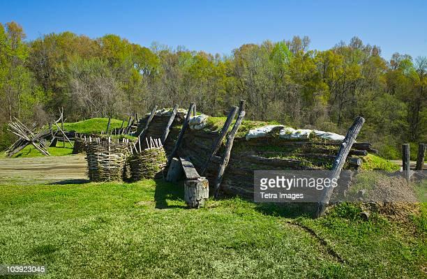 defenses at vicksburg national military park - vicksburg_national_military_park stock pictures, royalty-free photos & images