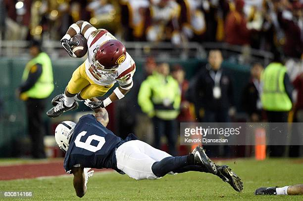 Defensive back Adoree' Jackson of the USC Trojans is tackled by safety Malik Golden of the Penn State Nittany Lions in the second half of the 2017...