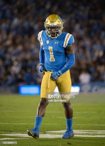UCLA defensive back Darnay Holmes during a college football game between the UCLA Bruins and Arizona Wildcats on October 20 2018 at the Rose Bowl in...