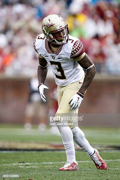 Defensive back Derwin James of the Florida State Seminoles during the spring game at Doak Campbell Stadium on Bobby Bowden Field on April 11 2015 in...