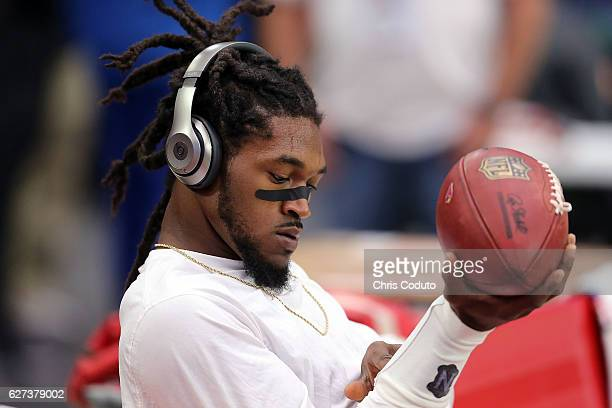 Defensive back DJ Swearinger of the Arizona Cardinals during warmups prior to the start of the the NFL football game against the San Francisco 49ers...