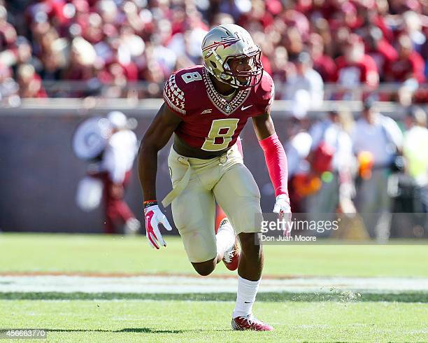 Defensive Back Jalen Ramsey of the Florida State Seminoles during the game against the Wake Forest Demon Deacons at Doak Campbell Stadium on Bobby...