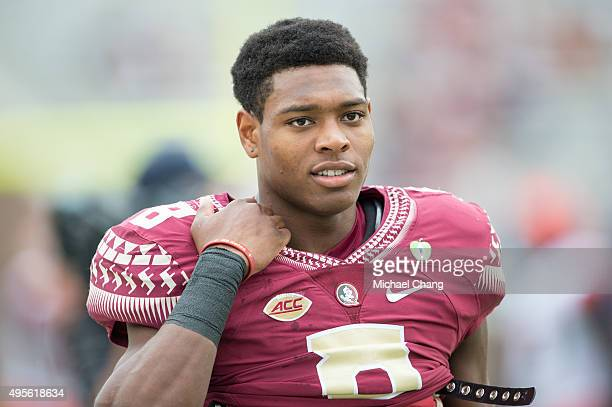Defensive back Jalen Ramsey of the Florida State Seminoles prior to their game against the Syracuse Orange on October 31 2015 at Doak Campbell...