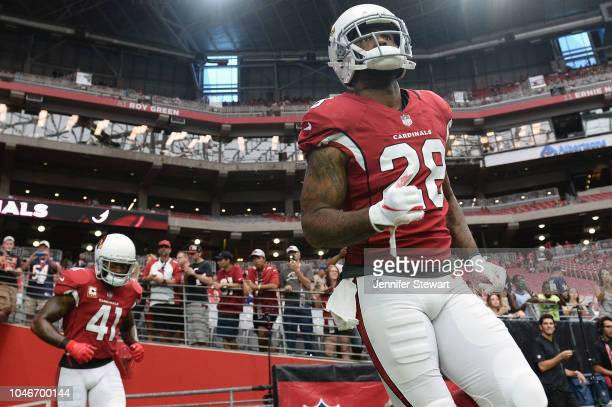 Defensive back Jamar Taylor of the Arizona Cardinals takes the field for the game against the Chicago Bears at State Farm Stadium on September 23,...