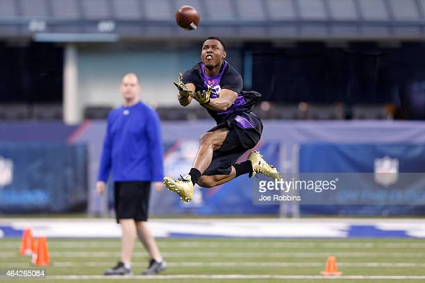 Defensive back Jermaine Whitehead of Auburn competes during the 2015 NFL Scouting Combine at Lucas Oil Stadium on February 23 2015 in Indianapolis...