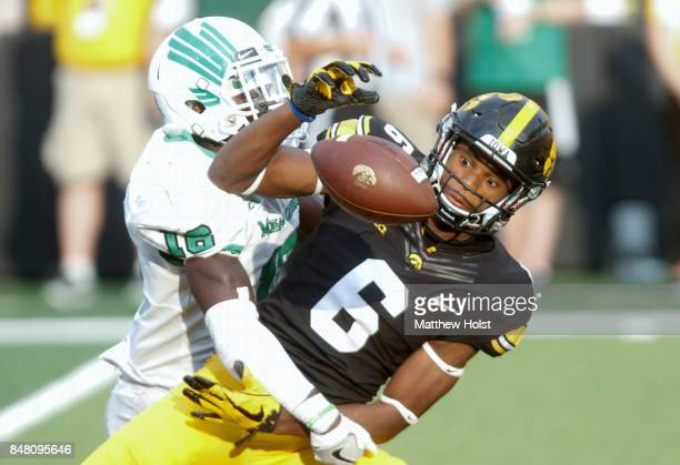 Defensive back Kemon Hall of the North Texas Mean Green breaks up a pass in the fourth quarterintended for wide receiver Ihmir SmithMarsette of the...