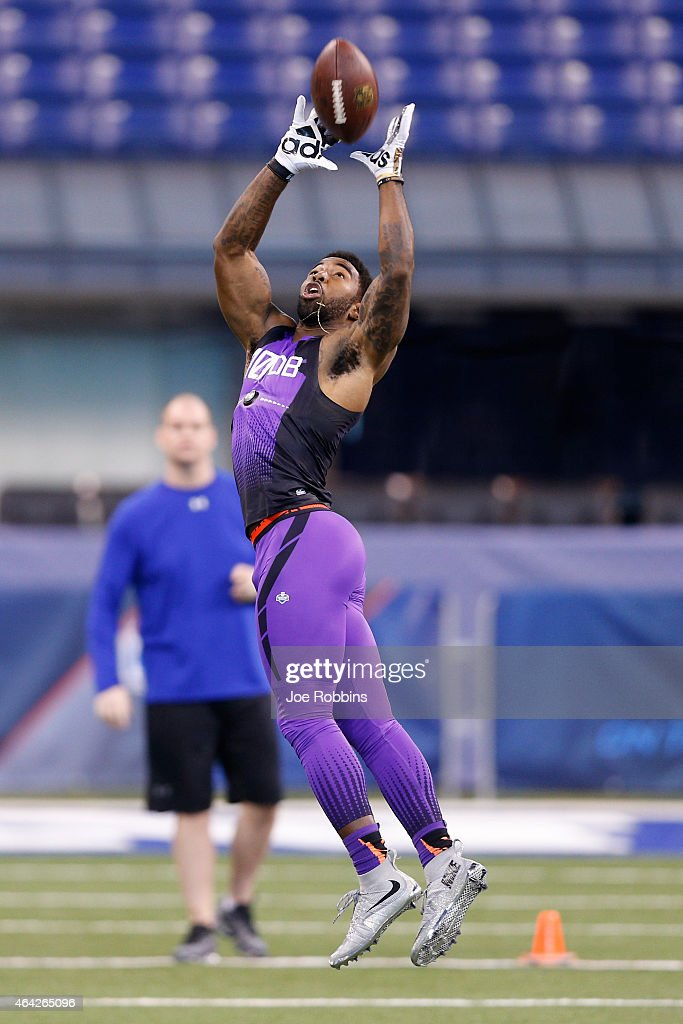 Defensive back Quinten Rollins of Miami (Ohio) competes during the 2015 NFL Scouting Combine at Lucas Oil Stadium on February 23, 2015 in Indianapolis, Indiana.