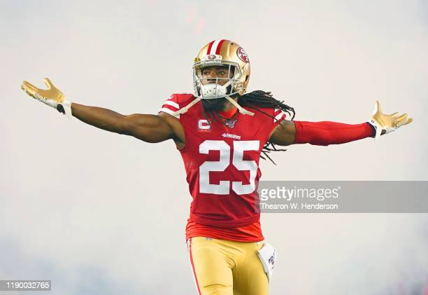 Defensive back Richard Sherman of the San Francisco 49ers takes the field during player introductions prior to the game against the Green Bay Packers...