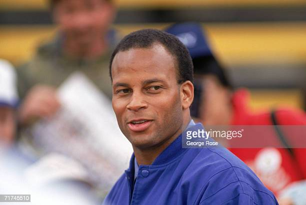 Defensive back Ronnie Lott of the Los Angeles Raiders attends a World League of American Football game between the London Monarchs and the Sacramento...