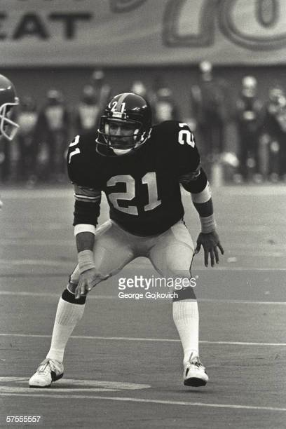 Defensive back Tony Dungy of the Pittsburgh Steelers in action at Three Rivers Stadium in 1978 in Pittsburgh Pennsylvania Pittsburgh