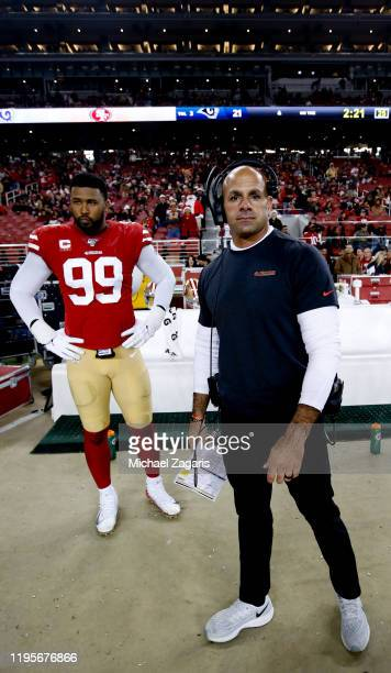 Defensive Coordinator Robert Saleh of the San Francisco 49ers stands on the sideline during the game against the Los Angeles Rams at Levi's Stadium...