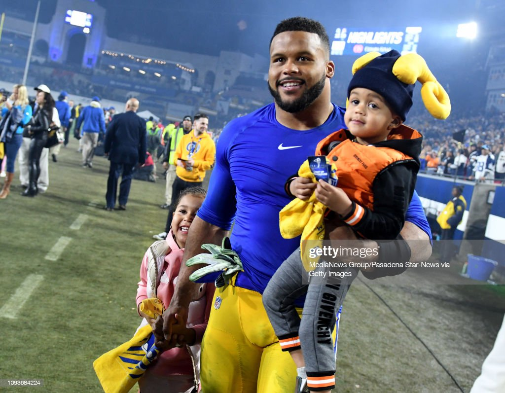 Defensive End Aaron Donald Of The Los Angeles Rams With His Kids News Photo Getty Images