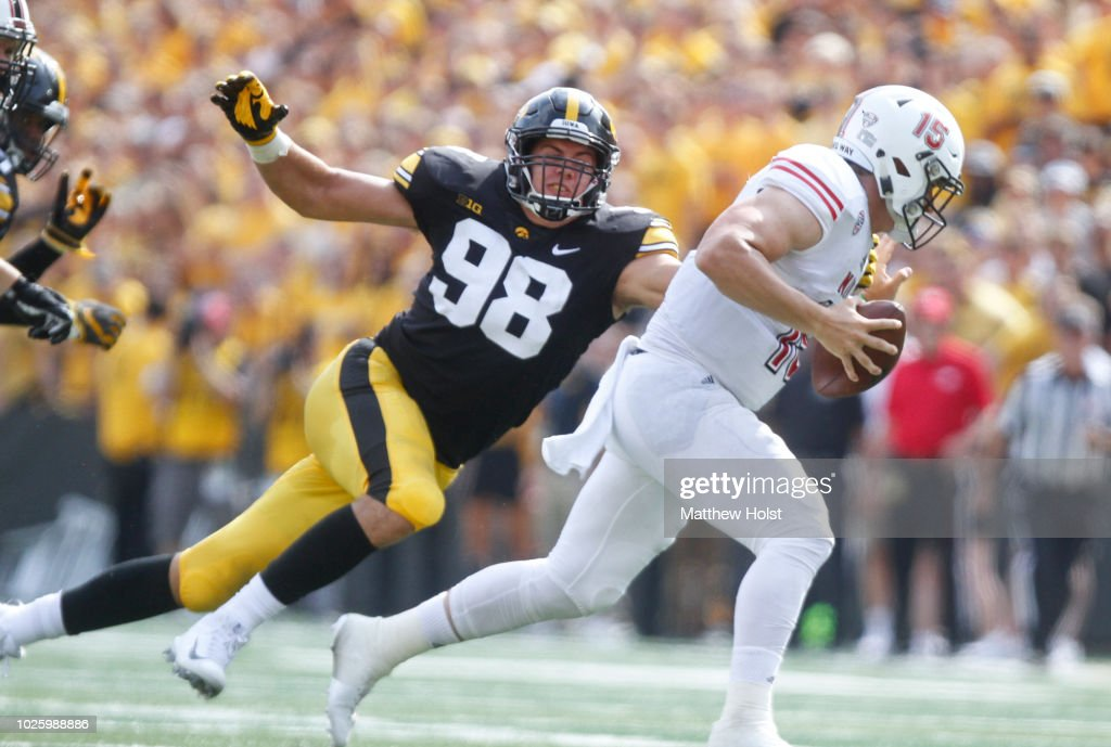 Northwestern v Iowa : News Photo