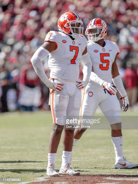 Defensive End Austin Bryant and Linebacker Shaq Smith of the Clemson Tigers during the game against the Florida State Seminoles at Doak Campbell...