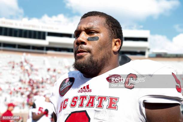 Defensive End Bradley Chubb of the North Carolina State Wolfpack after the game against the Florida State Seminoles at Doak Campbell Stadium on Bobby...