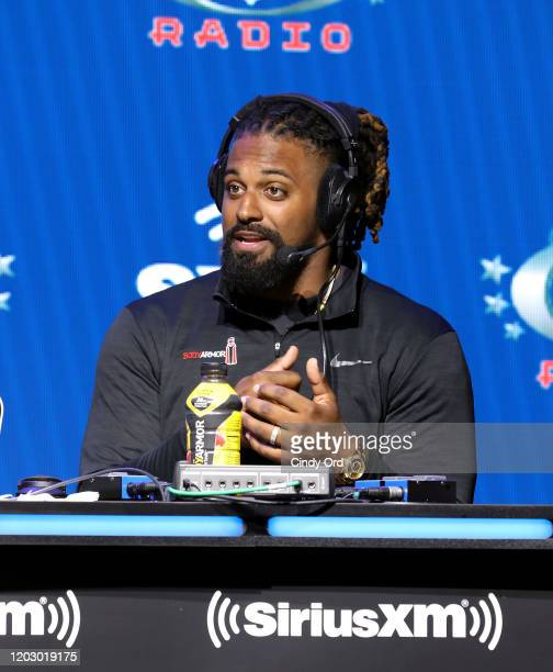 NFL defensive end Cameron Jordan of the New Orleans Saints speaks onstage during day 2 of SiriusXM at Super Bowl LIV on January 30 2020 in Miami...