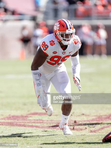 Defensive End Clelin Ferrell of the Clemson Tigers during the game against the Florida State Seminoles at Doak Campbell Stadium on Bobby Bowden Field...