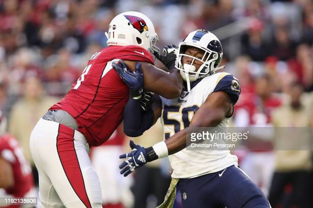 Defensive end Dante Fowler of the Los Angeles Rams in action during the second half of the NFL game against the Arizona Cardinals at State Farm...