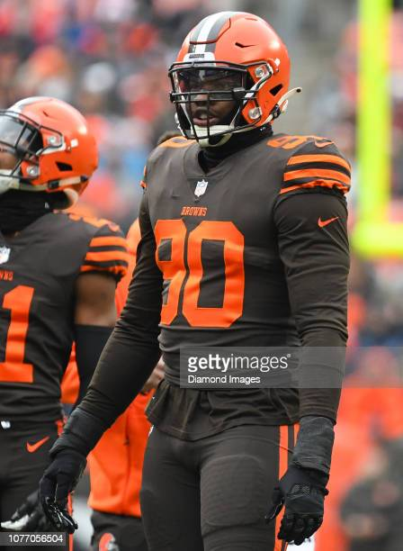 Defensive end Emmanuel Ogbah of the Cleveland Browns on the field in the first quarter of a game against the Cincinnati Bengals on December 23 2018...