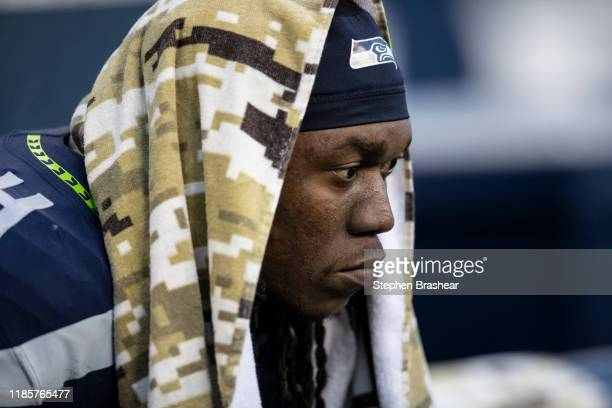 Defensive end Ezekiel Ansah of the Seattle Seahawks is pictured during a game against the Tampa Bay Buccaneers at CenturyLink Field on November 3,...