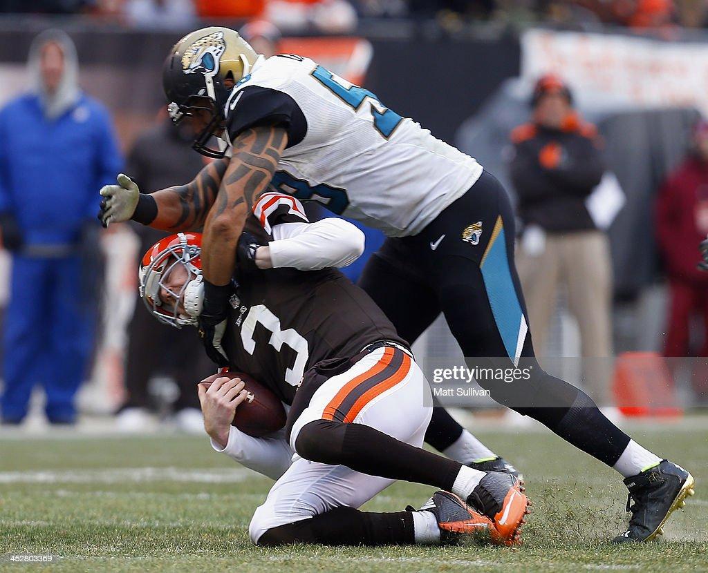 Jacksonville Jaguars v Cleveland Browns : Foto jornalística