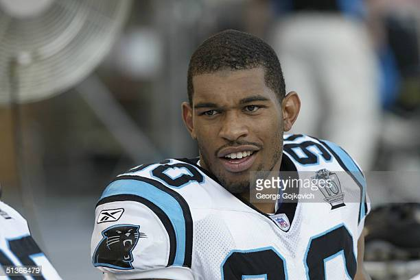 Defensive end Julius Peppers of the Carolina Panthers during the Carolina Panthers 16-13 preseason game victory over the Pittsburgh Steelers on...