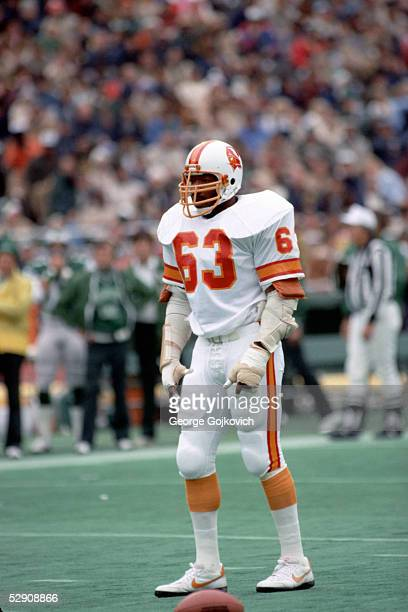 Defensive end Lee Roy Selmon of the Tampa Bay Buccaneers during a game against the Philadelphia Eagles at Veterans Stadium on October 25 1981 in...