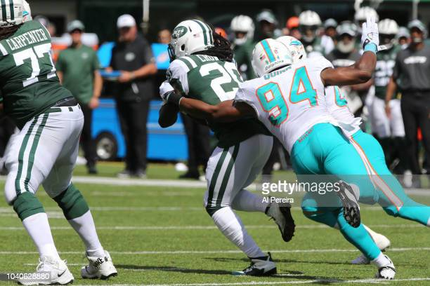 Defensive End Robert Quinn of the Miami Dolphins in action against the New York Jets at MetLife Stadium on September 16 2018 in East Rutherford New...