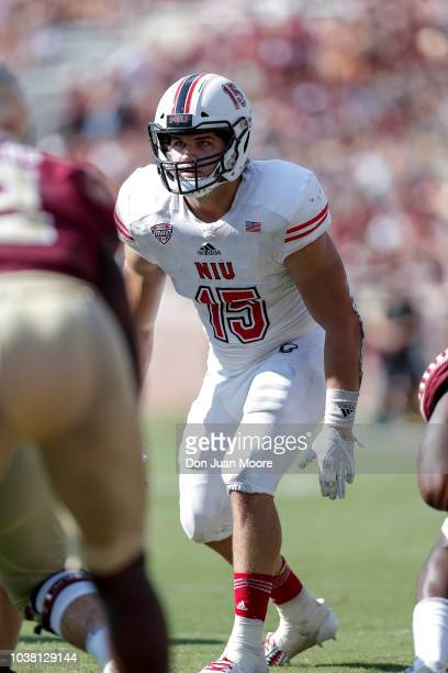 Defensive End Sutton Smith of the Northern Illinois Huskies during the game against the Florida State SeminolesNorthern Illinois Huskies at Doak...