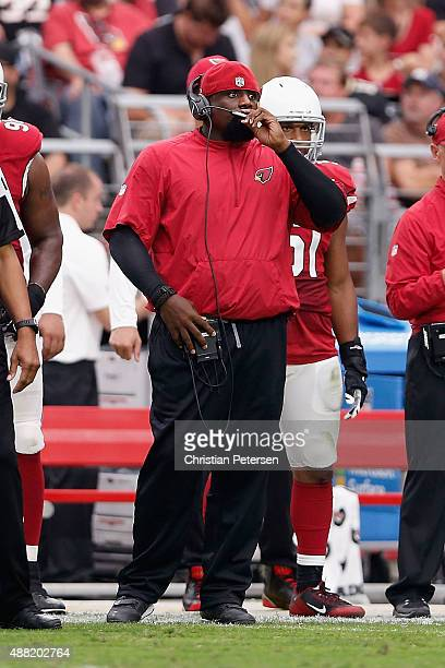 Defensive Line coach Brentson Buckner of the Arizona Cardinals during the NFL game against the New Orleans Saints at the University of Phoenix...