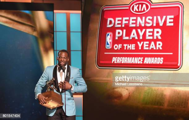 Defensive Player of The Year Draymond Green speaks on stage during the 2017 NBA Awards Live On TNT on June 26 2017 in New York City 27111_001