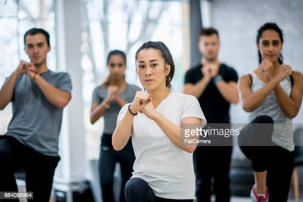 defensive pose - mixed boxing stock photos and pictures