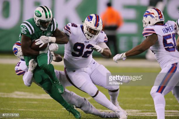 Defensive Tackle Adolphus Washington of the Buffalo Bills in action against the New York Jets at MetLife Stadium on November 2 2017 in East...
