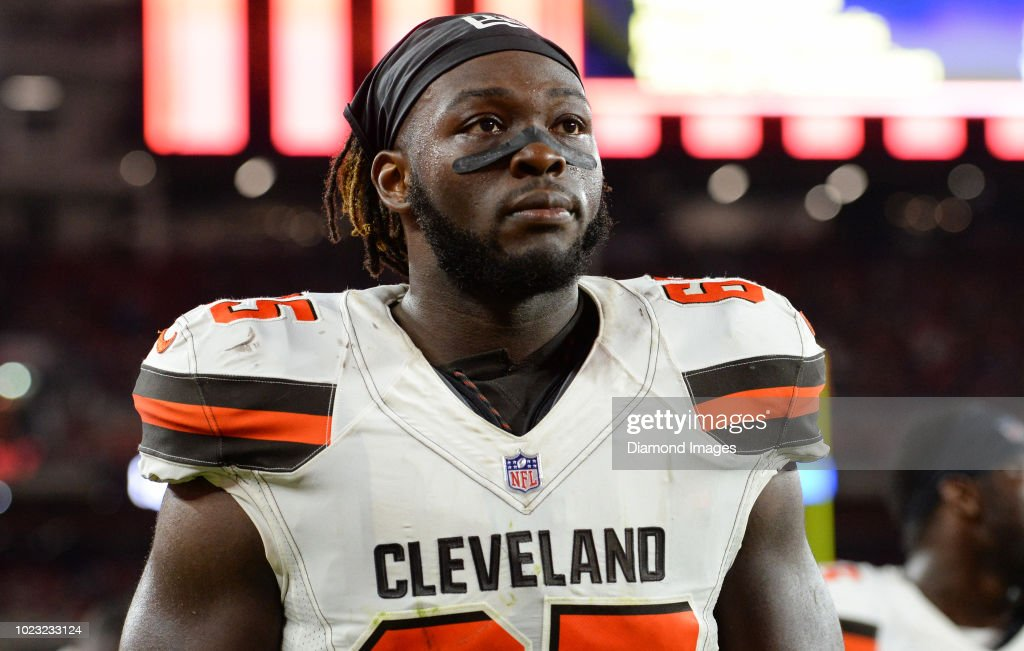 the best attitude 499f1 eaa3a Defensive tackle Larry Ogunjobi of the Cleveland Browns ...