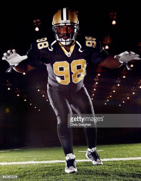 Defensive Tackle Sedrick Ellis of the New Orleans Saints poses for a photo at the New Orleans Saints training facility in Metairie Louisiana