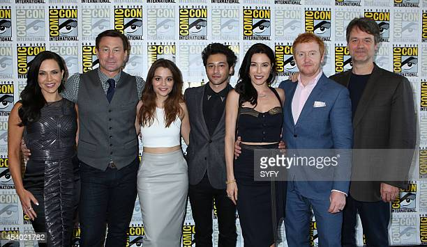 """Defiance Press Room/Panel"""" -- Pictured: Julie Benz, Grant Bowler, Stephanie Leonidas, Jesse Rath, Jaime Murray, Tony Curran, and Executive Producer..."""